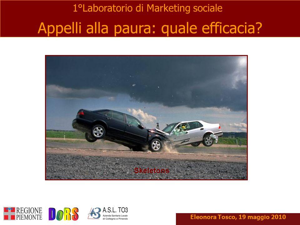 Appelli alla paura: quale efficacia? 1°Laboratorio di Marketing sociale Eleonora Tosco, 19 maggio 2010 Skeletons