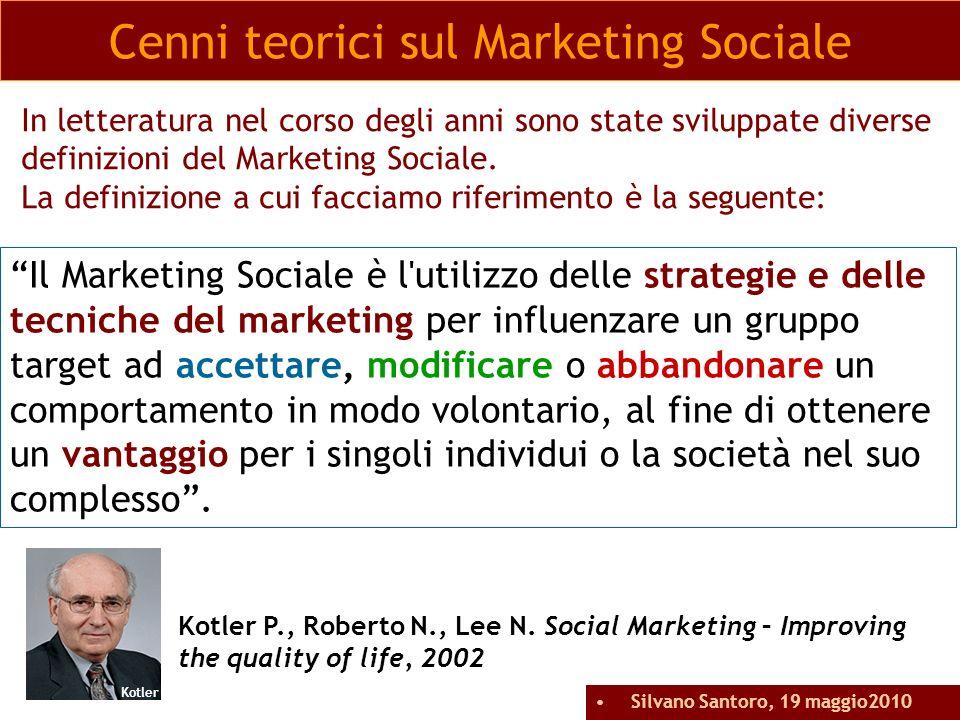 In letteratura nel corso degli anni sono state sviluppate diverse definizioni del Marketing Sociale. La definizione a cui facciamo riferimento è la se