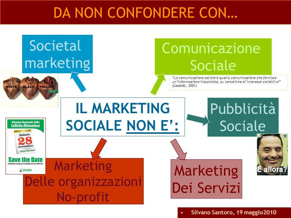 DA NON CONFONDERE CON… IL MARKETING SOCIALE NON E: Societal marketing La comunicazione sociale è quella comunicazione che fornisce uninformazione impa
