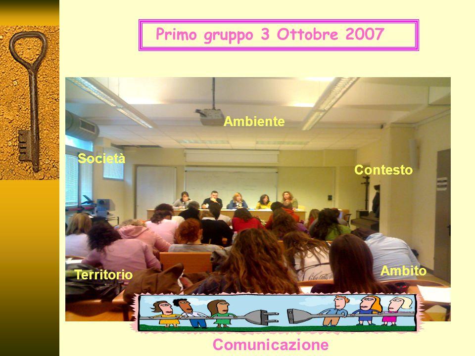 Ambito Contesto Società Ambiente Comunicazione Territorio Primo gruppo 3 Ottobre 2007