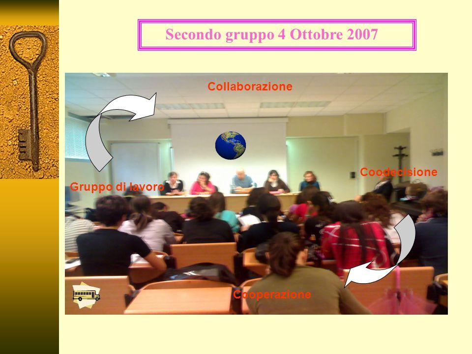 Coodecisione Gruppo di lavoro Collaborazione Cooperazione Secondo gruppo 4 Ottobre 2007