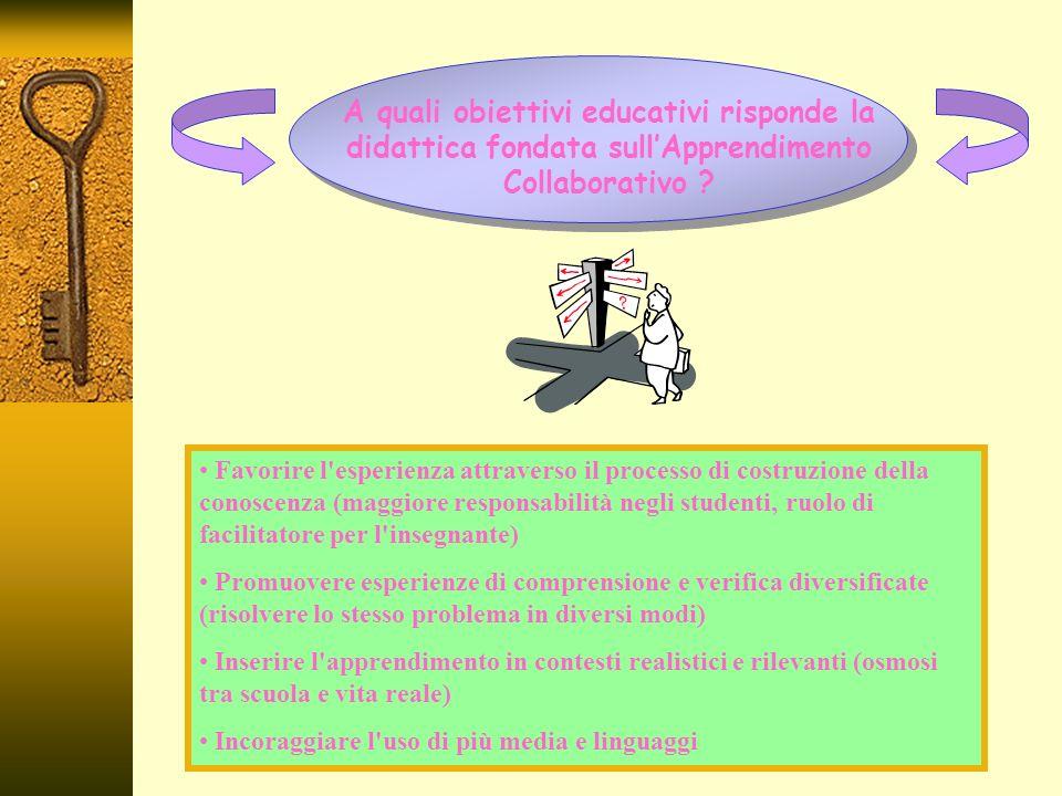 A quali obiettivi educativi risponde la didattica fondata sullApprendimento Collaborativo .