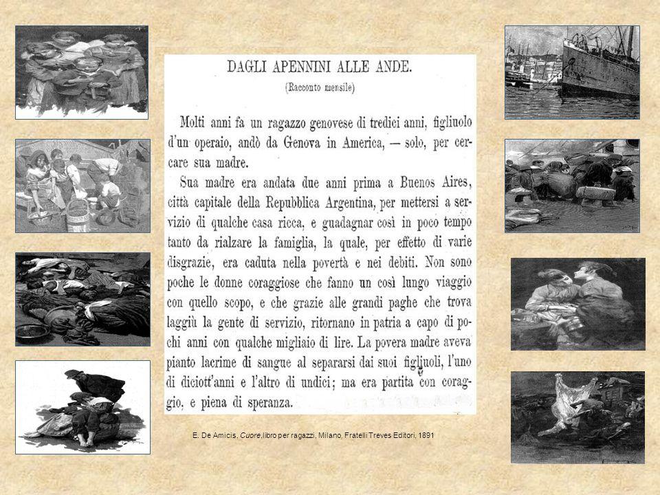 E. De Amicis, Cuore,libro per ragazzi, Milano, Fratelli Treves Editori, 1891