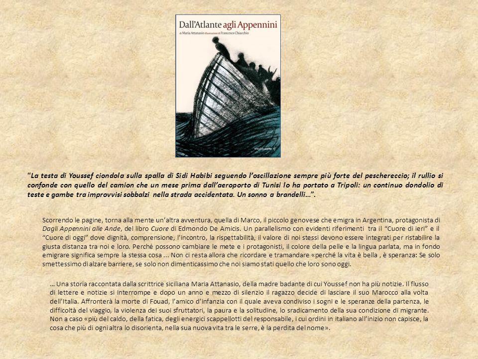 … Una storia raccontata dalla scrittrice siciliana Maria Attanasio, della madre badante di cui Youssef non ha più notizie. Il flusso di lettere e noti