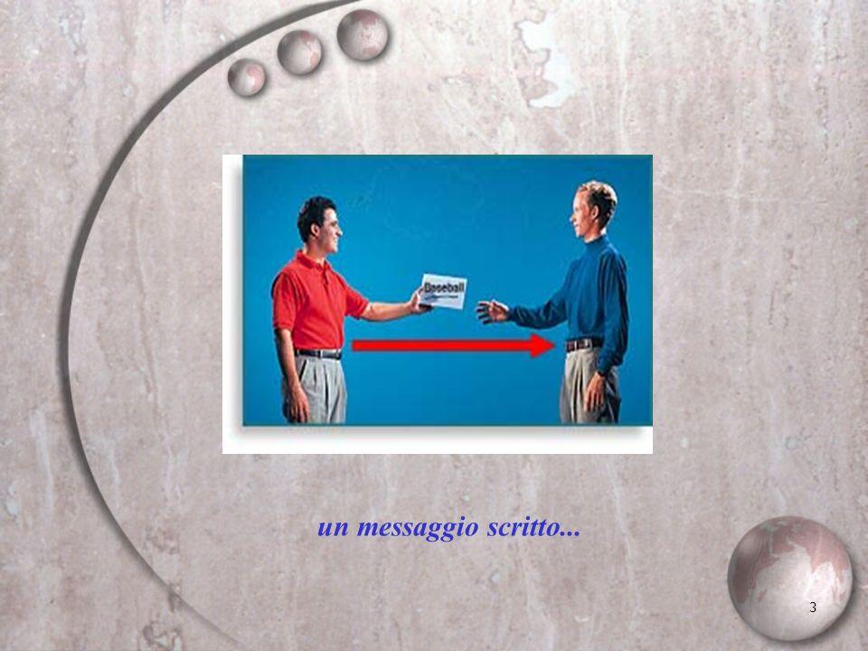 3 un messaggio scritto...