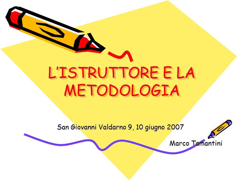 LISTRUTTORE E LA METODOLOGIA San Giovanni Valdarno 9, 10 giugno 2007 Marco Tamantini