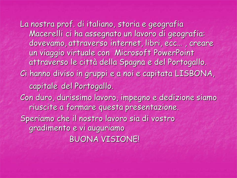 La nostra prof. di italiano, storia e geografia Macerelli ci ha assegnato un lavoro di geografia: dovevamo, attraverso internet, libri, ecc…, creare u
