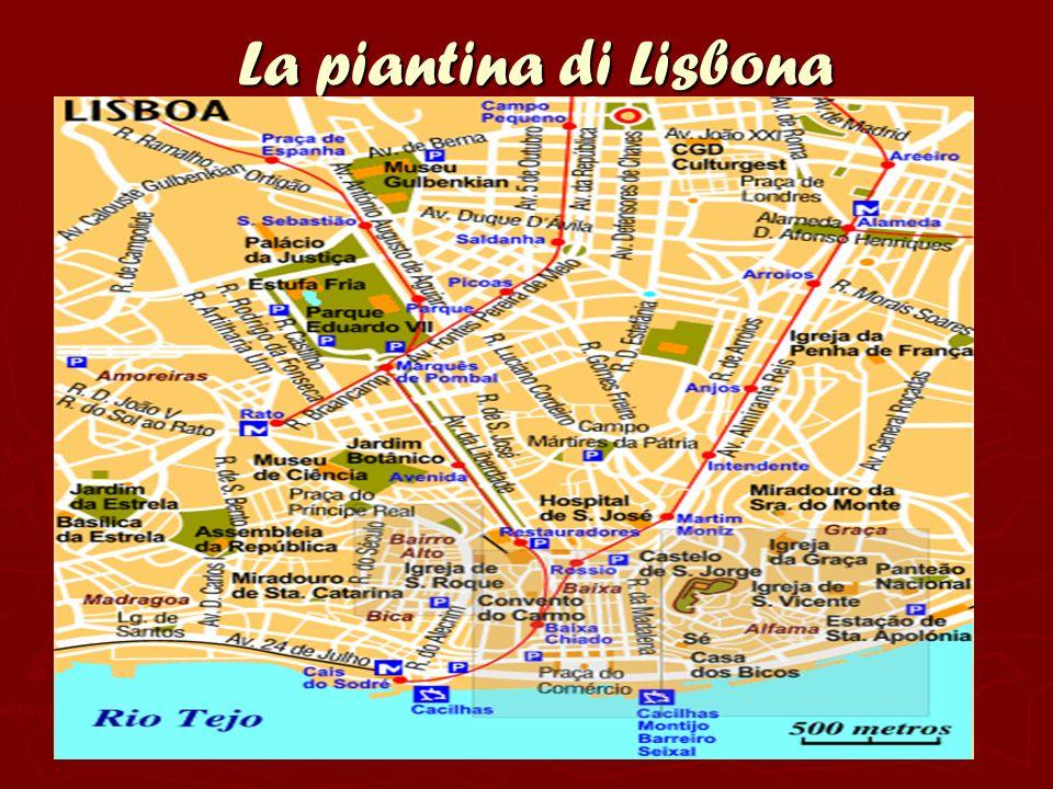 La piantina di Lisbona La piantina di Lisbona