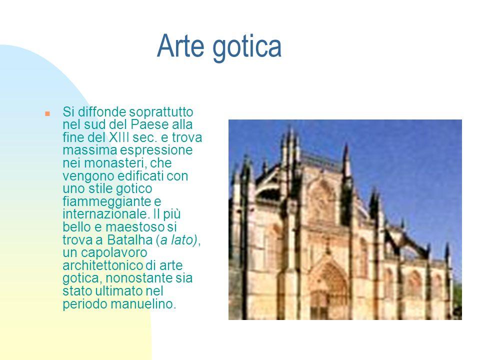 Arte gotica Si diffonde soprattutto nel sud del Paese alla fine del XIII sec. e trova massima espressione nei monasteri, che vengono edificati con uno