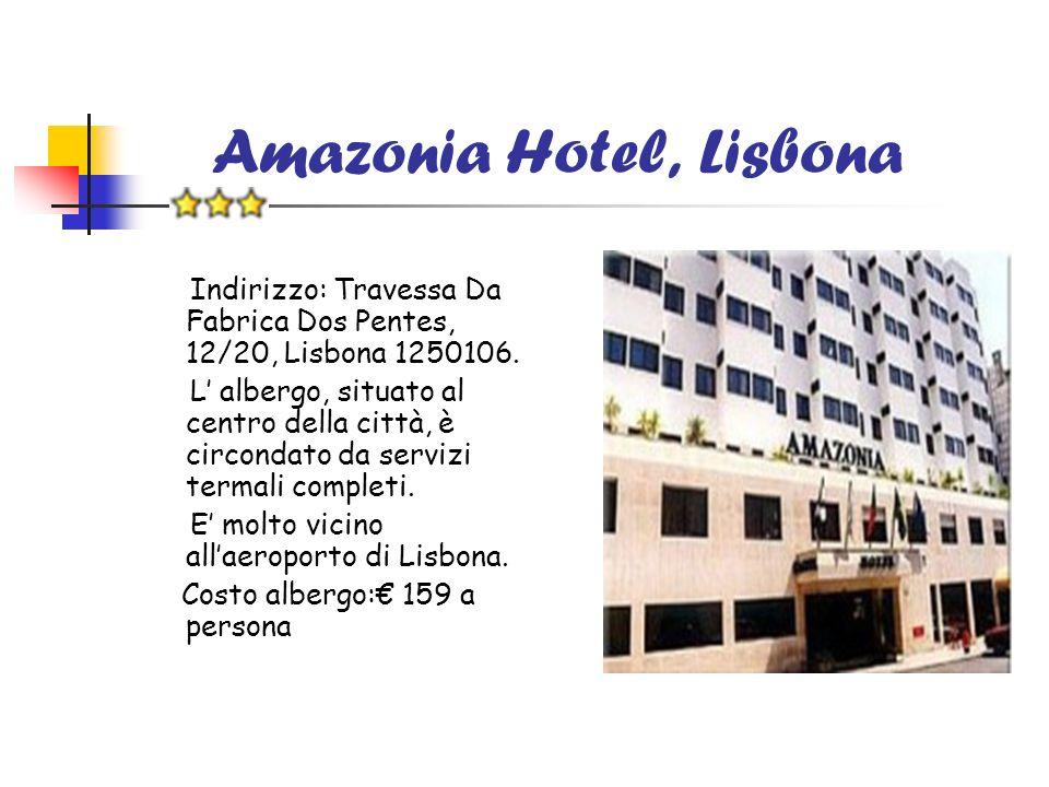 Amazonia Hotel, Lisbona Indirizzo: Travessa Da Fabrica Dos Pentes, 12/20, Lisbona 1250106. L albergo, situato al centro della città, è circondato da s