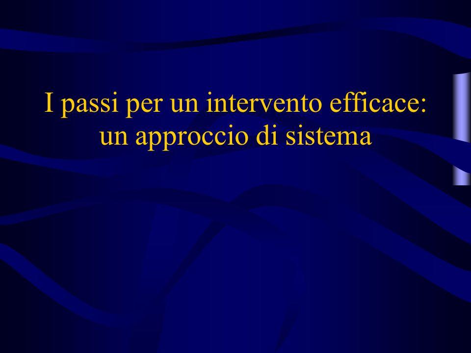 I passi per un intervento efficace: un approccio di sistema