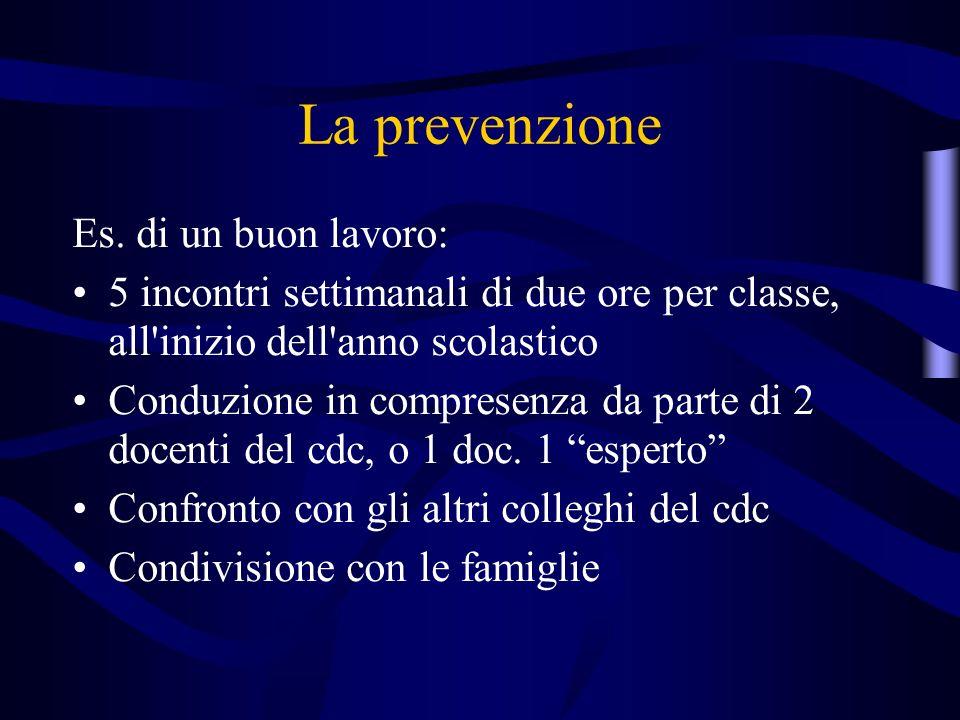 La prevenzione Es.