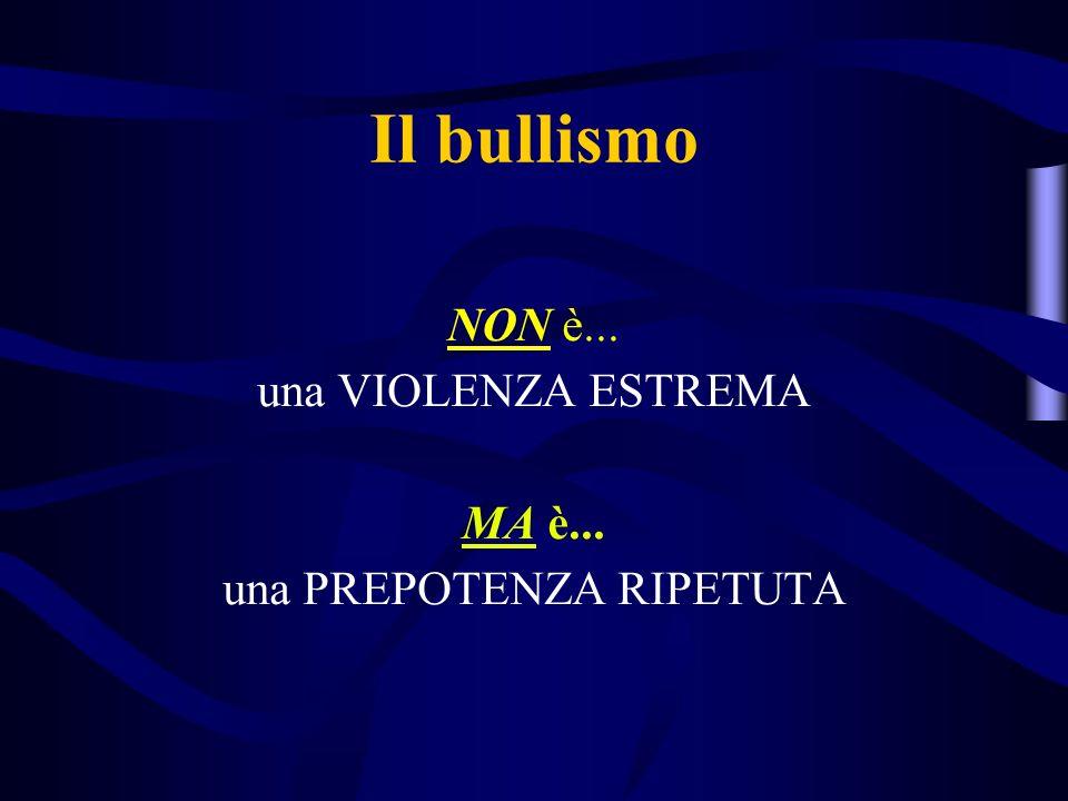 Il bullismo NON è... una VIOLENZA ESTREMA MA è... una PREPOTENZA RIPETUTA