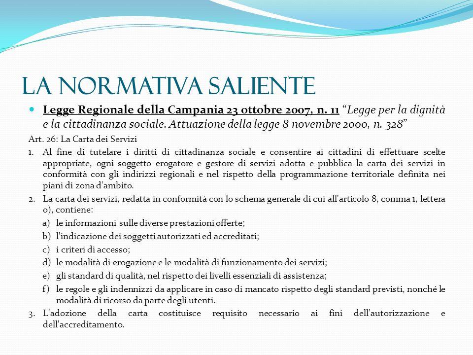 Legge Regionale della Campania 23 ottobre 2007, n. 11 Legge per la dignità e la cittadinanza sociale. Attuazione della legge 8 novembre 2000, n. 328 A