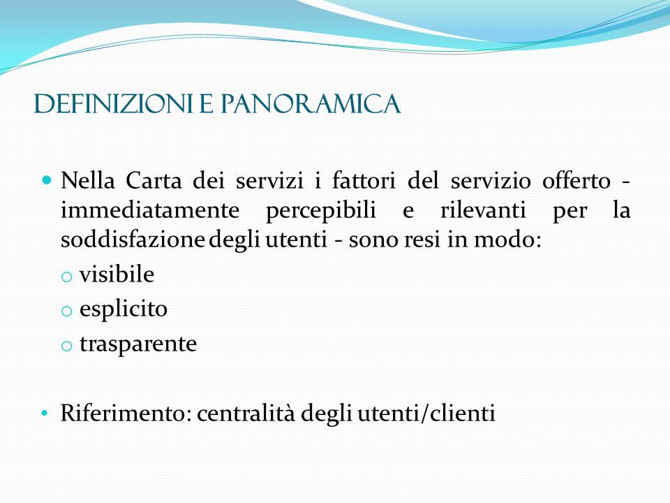 Legge 8 novembre 2000, n.328 – Art. 13: Carta dei servizi sociali.