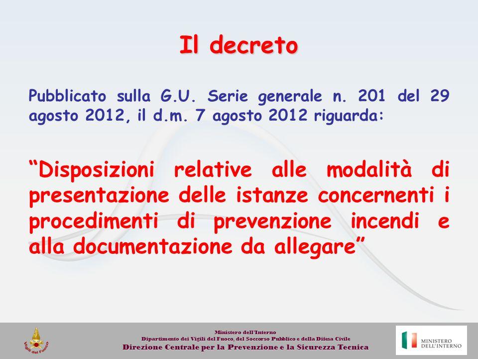 Nuovo DPR Prevenzione Incendi 151/11 Legge 122/10 Regolamento SUAP Ambito di riferimento