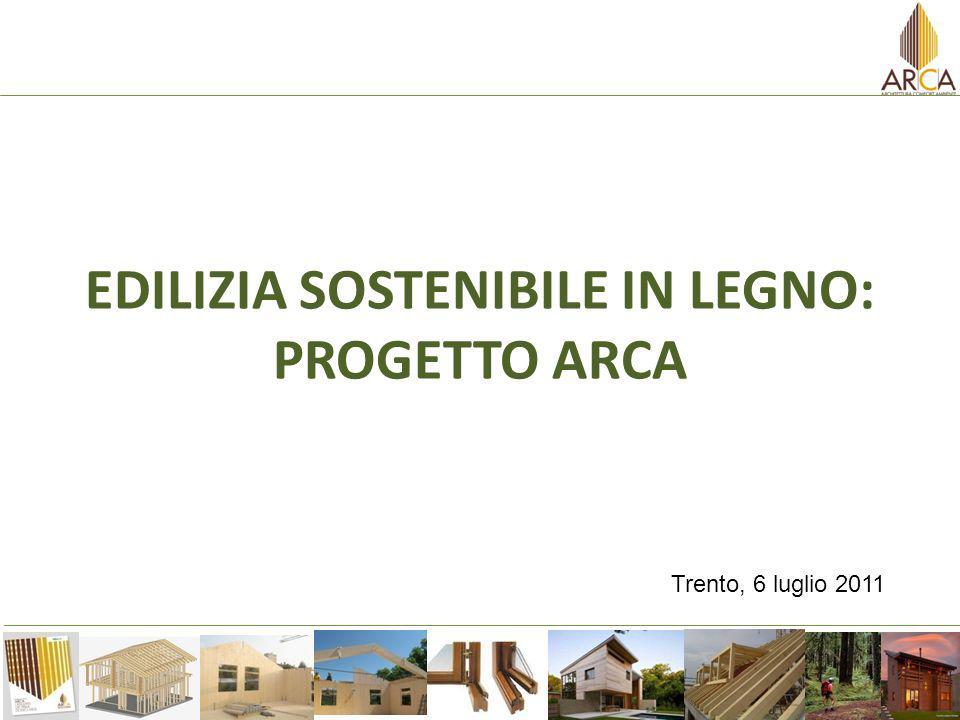 EDILIZIA SOSTENIBILE IN LEGNO: PROGETTO ARCA Trento, 6 luglio 2011