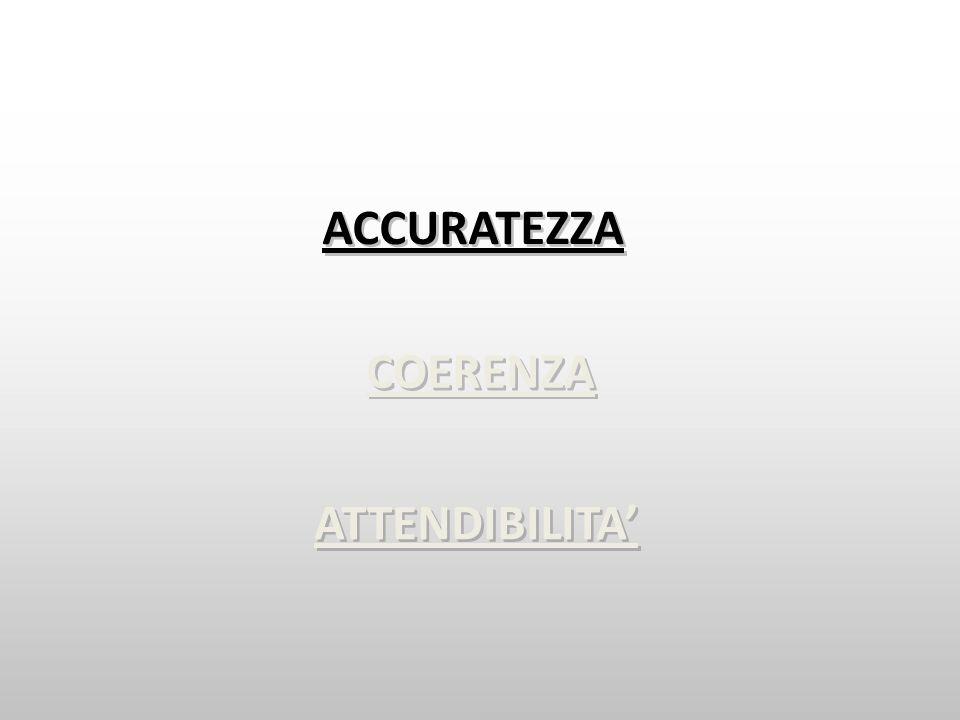 COERENZA ATTENDIBILITA ACCURATEZZA