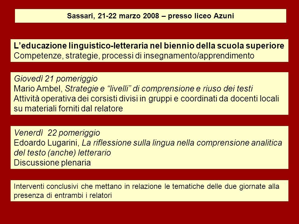 Mario Ambel, Strategie e livelli di comprensione e riuso dei testi La reading literacy secondo lOcse Pisa Perché la letto-scrittura.