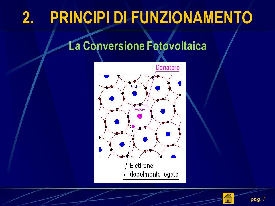 pag. 7 2.PRINCIPI DI FUNZIONAMENTO La Conversione Fotovoltaica