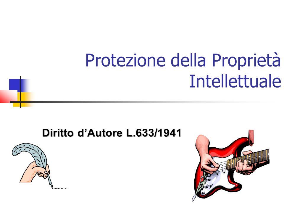 Protezione della Proprietà Intellettuale Diritto dAutore L.633/1941