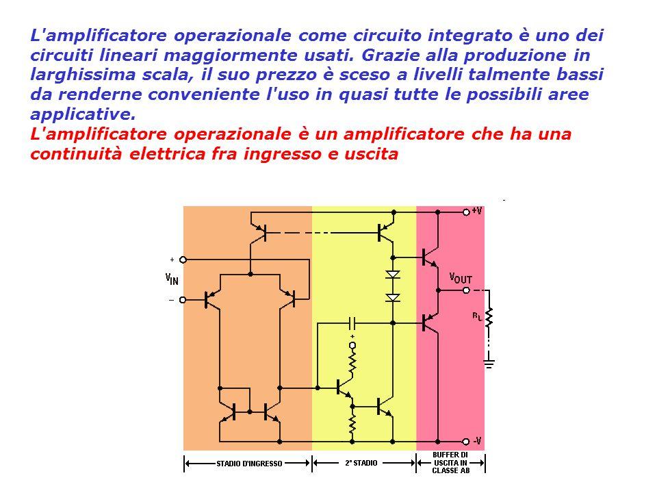 introduzione AO amplificatore differenzialeLAO può essere definito funzionalmente come un amplificatore differenziale, cioè un dispositivo attivo a tr