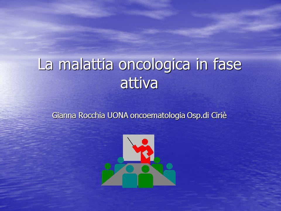 La malattia oncologica in fase attiva Gli effetti collaterali della chemioterapia Mucosite Fattori di rischio Fattori di rischio 1.