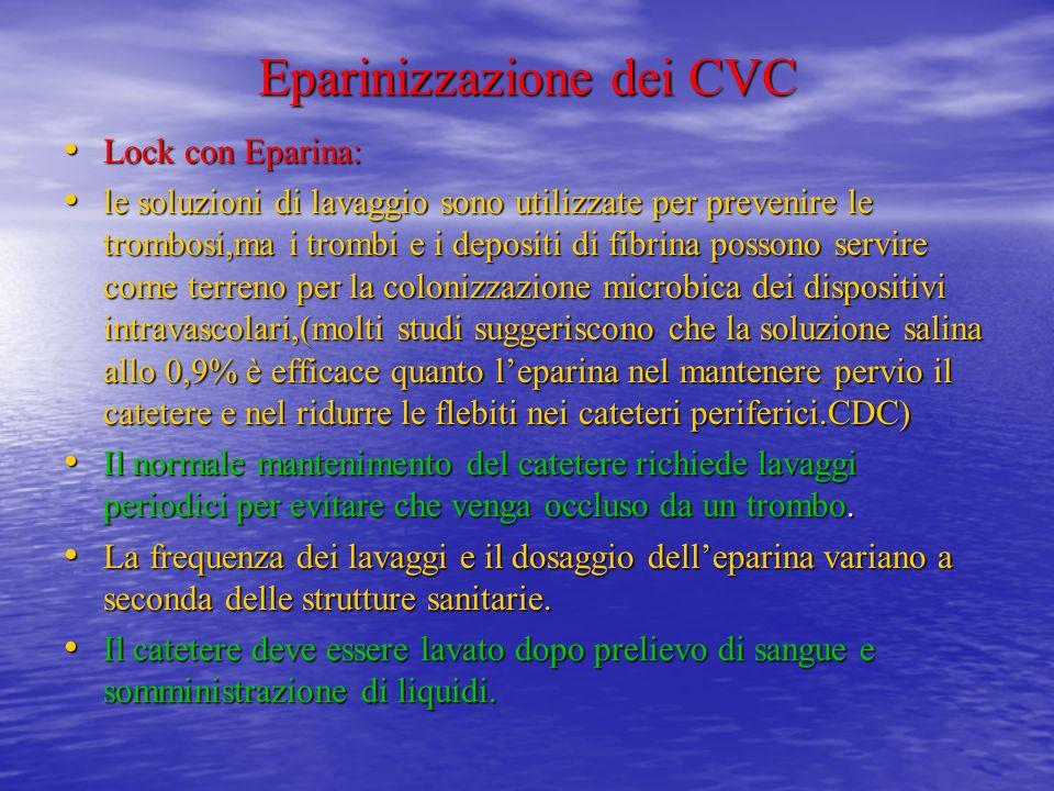 raccordare unaltra siringa da 10 ml con il volume di soluzione eparinata in base al tipo di CVC raccordare unaltra siringa da 10 ml con il volume di s