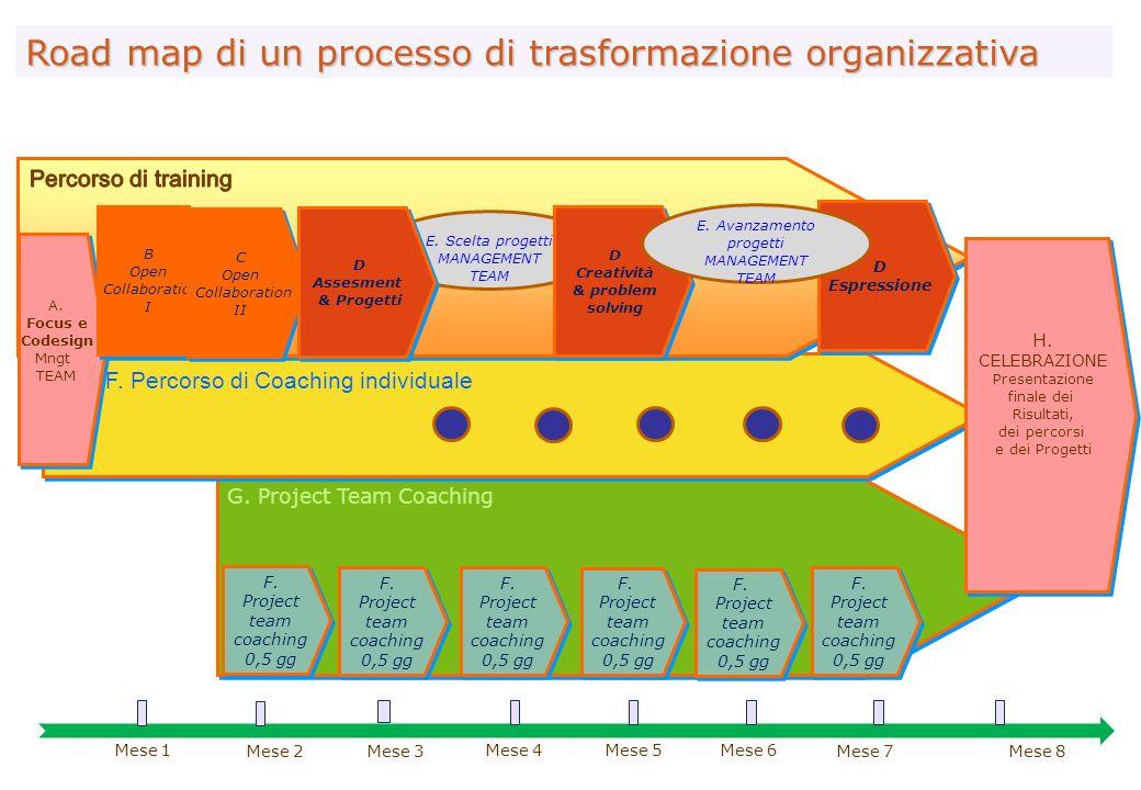 G.Project Team Coaching Road map di un processo di formazione-trasformazione F.