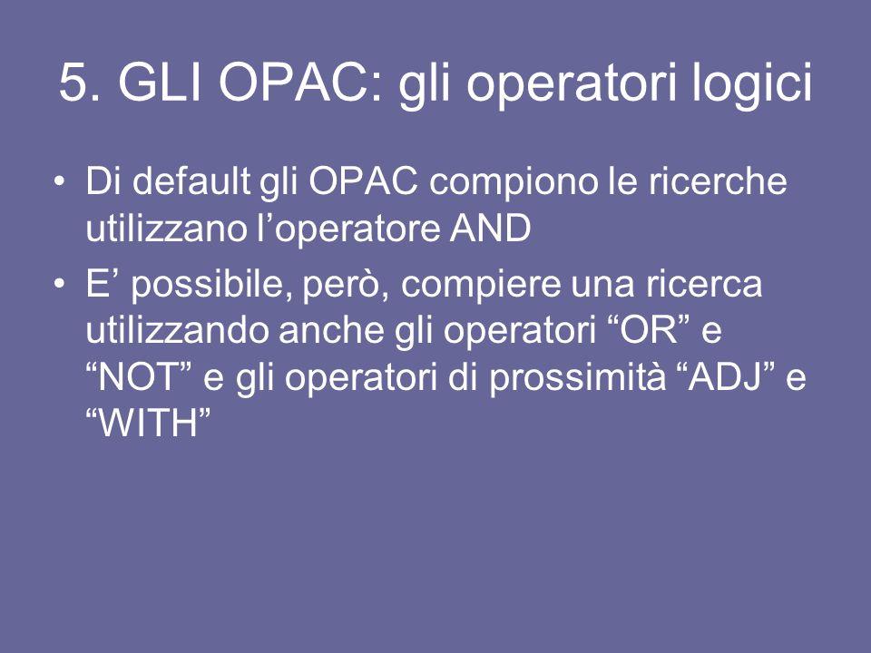 2. GLI OPAC e I METAOPAC LOPAC è il catalogo di una biblioteca I metaOPAC permettono di interrogare più cataloghi contemporaneamente; la schermata di