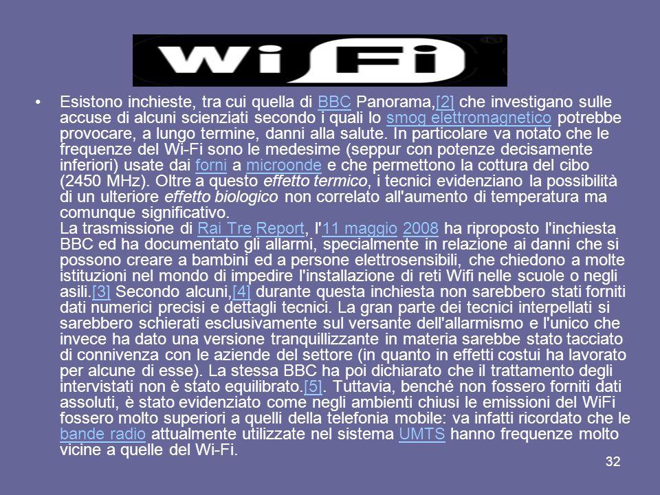 31 Il WiMAX (acronimo di Worldwide Interoperability for Microwave Access) è una tecnologia che consente l'accesso a reti di telecomunicazioni a banda