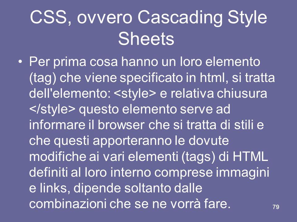 CSS, ovvero Cascading Style Sheets Sono ormai divenuti molto comuni sul web, servono per migliorare l'aspetto estetico e al tempo stesso facilitare la