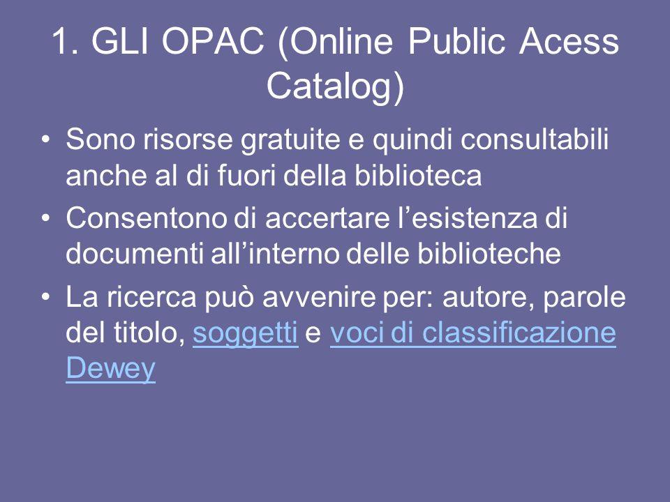 Lobiettivo della ricerca bibliografica La ricerca bibliografica ha come obiettivo l'individuazione di fonti informative relative ad un determinato arg