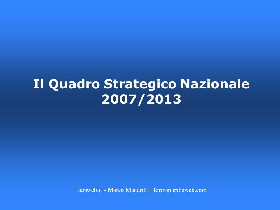 Il Quadro Strategico Nazionale 2007/2013