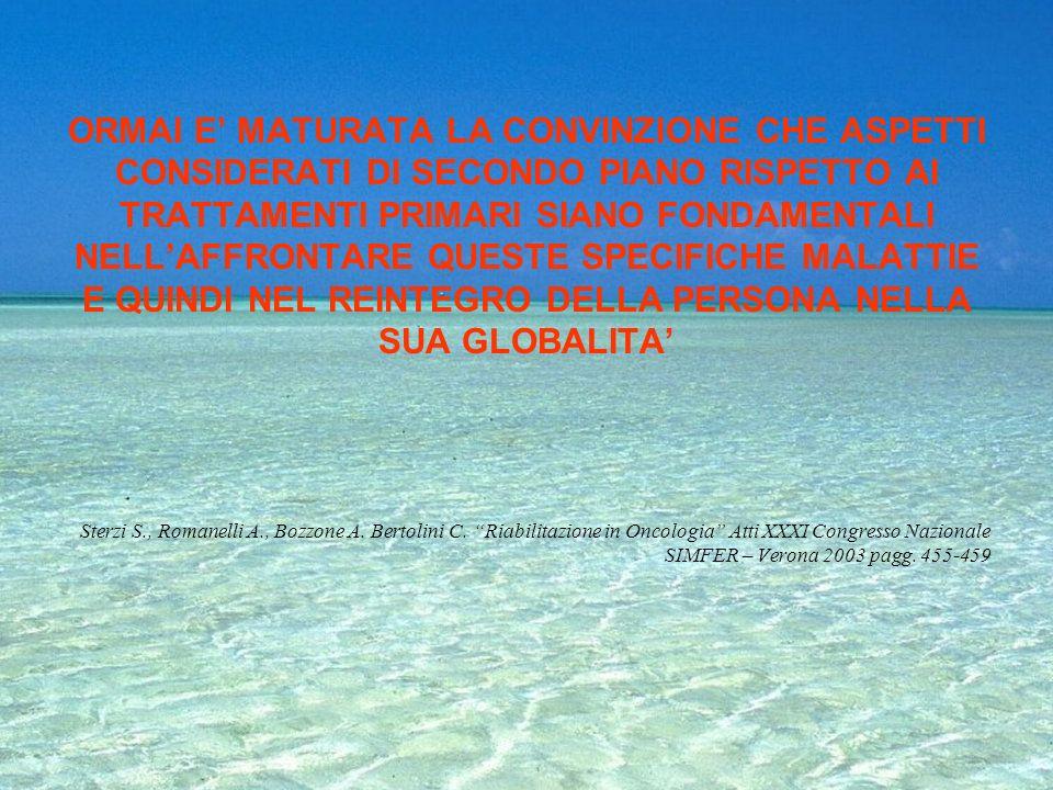 LA FILOSOFIA DI BASE E ANALOGA COME PER MOLTI ALTRI PAZIENTI DELLA RIABILITAZIONE, TI AIUTO PER AIUTARTI Battaglia M.R. in, Lissoni A., Nursing e Riab