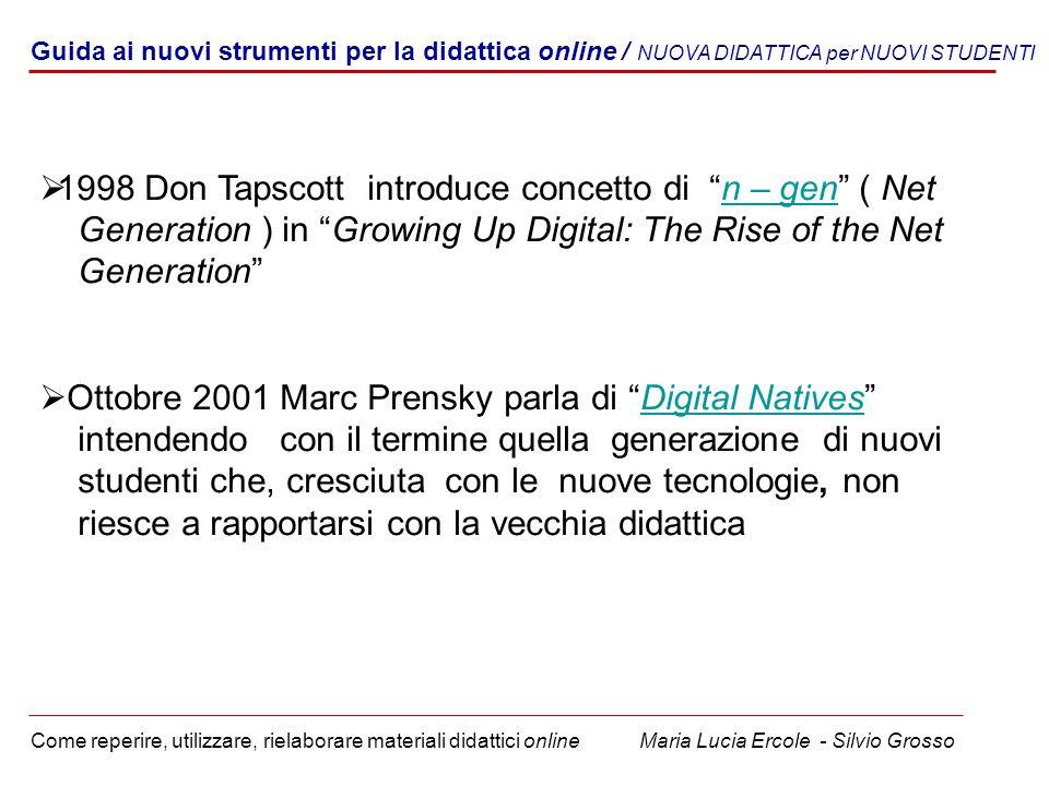 Guida ai nuovi strumenti per la didattica online / NUOVA DIDATTICA per NUOVI STUDENTI Come reperire, utilizzare, rielaborare materiali didattici onlin