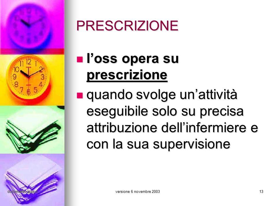 documento Ipasviversione 6 novembre 200313 PRESCRIZIONE loss opera su prescrizione loss opera su prescrizione quando svolge unattività eseguibile solo