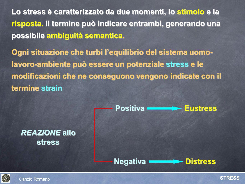Lo stress è caratterizzato da due momenti, lo stimolo e la risposta. Il termine può indicare entrambi, generando una possibile ambiguità semantica. Og