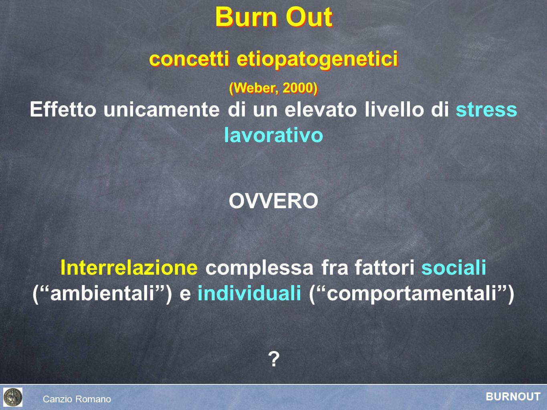 Effetto unicamente di un elevato livello di stress lavorativo OVVERO Interrelazione complessa fra fattori sociali (ambientali) e individuali (comporta
