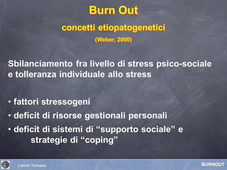 Sbilanciamento fra livello di stress psico-sociale e tolleranza individuale allo stress fattori stressogeni deficit di risorse gestionali personali de