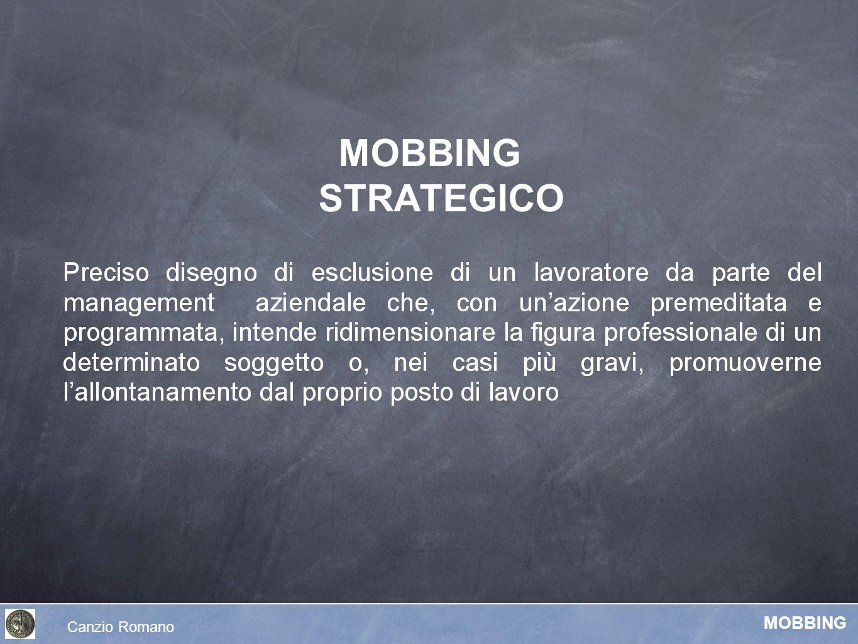 MOBBING STRATEGICO Canzio Romano MOBBING
