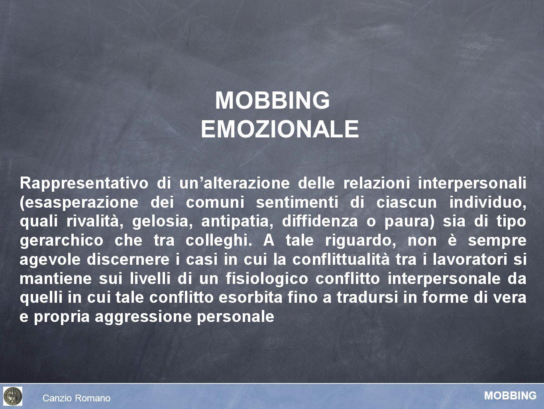 Fasi del MOBBING Leymann, 1993 : Ege, 1997 : Conflitti genera- lizzati Inizio del mobbing Sintomi psico- somatici Errori / abusi gestione R.U.