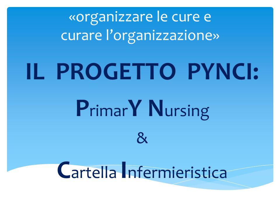 «organizzare le cure e curare lorganizzazione» IL PROGETTO PYNCI: P rimar Y N ursing & C artella I nfermieristica