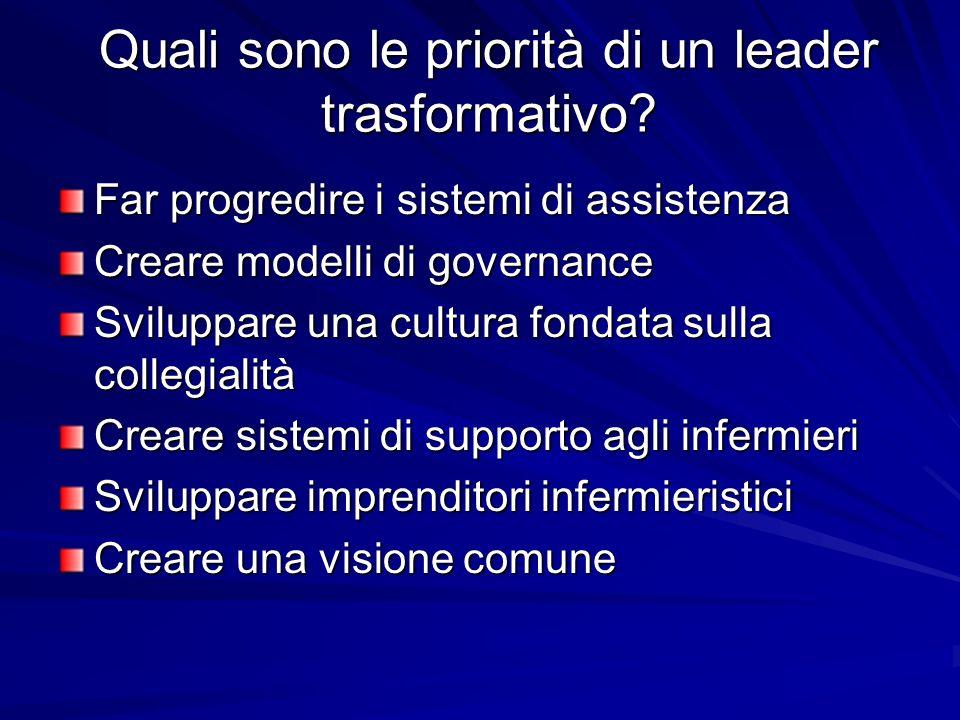 Quali sono le priorità di un leader trasformativo.