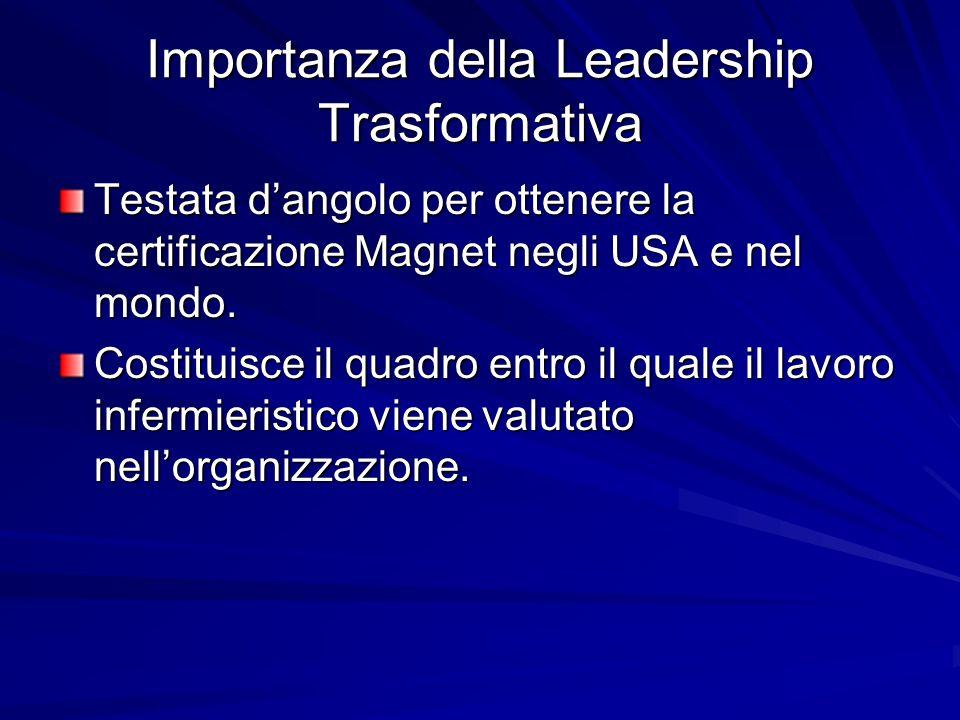 Principi guida della Leadership Trasformativa Rispetto per il personale sanitario Abilità nei rapporti interpersonali Campo di gioco senza ostacoli Pensiero basato su sistemi