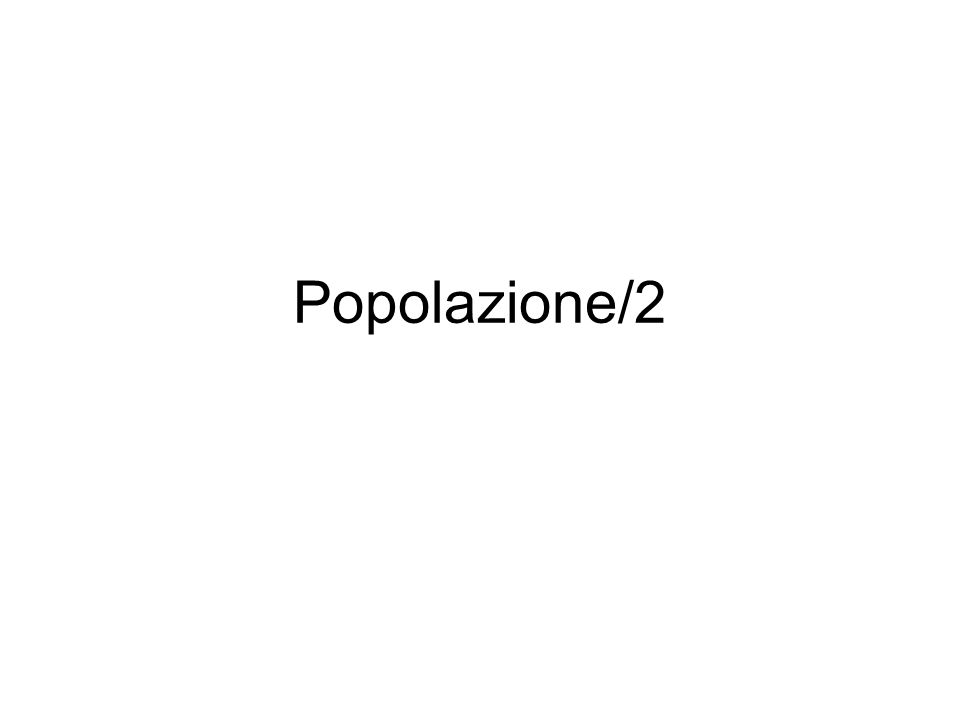 Popolazione/2