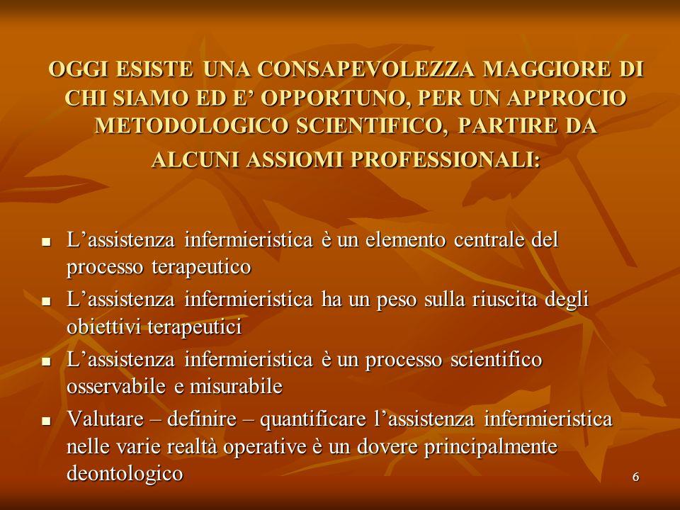 6 Lassistenza infermieristica è un elemento centrale del processo terapeutico Lassistenza infermieristica è un elemento centrale del processo terapeut