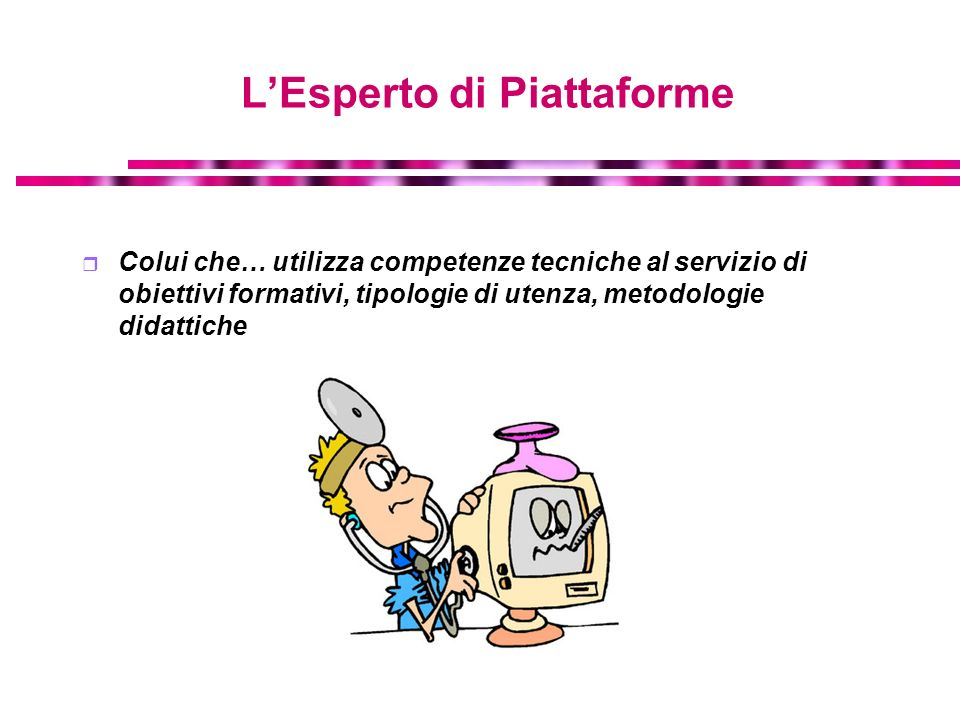 Tipologie di ambienti telematici per lapprendimento Piattaforme Virtual office Hour - focus sulrapporto tutor/docente-studente Piattaforme Erogative - focus sul rapporto studente-materiali Piattaforme per Collaborative Learning - focus sul rapporto studente-studente