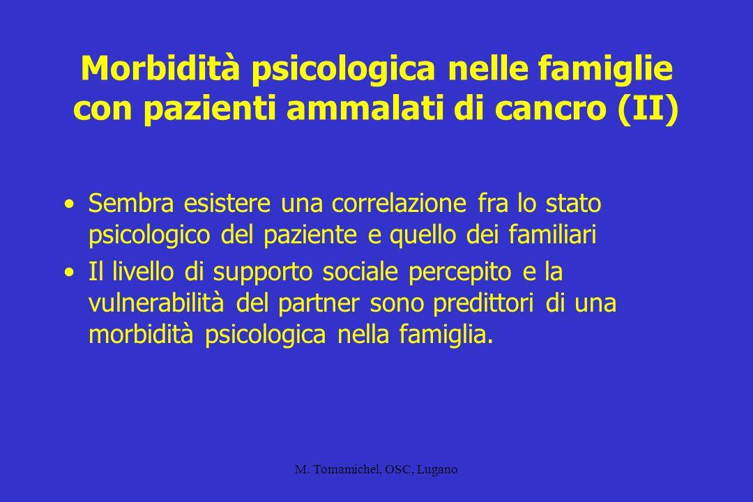 M.Tomamichel, OSC, Lugano Disturbi depressivi in pazienti oncologici D.