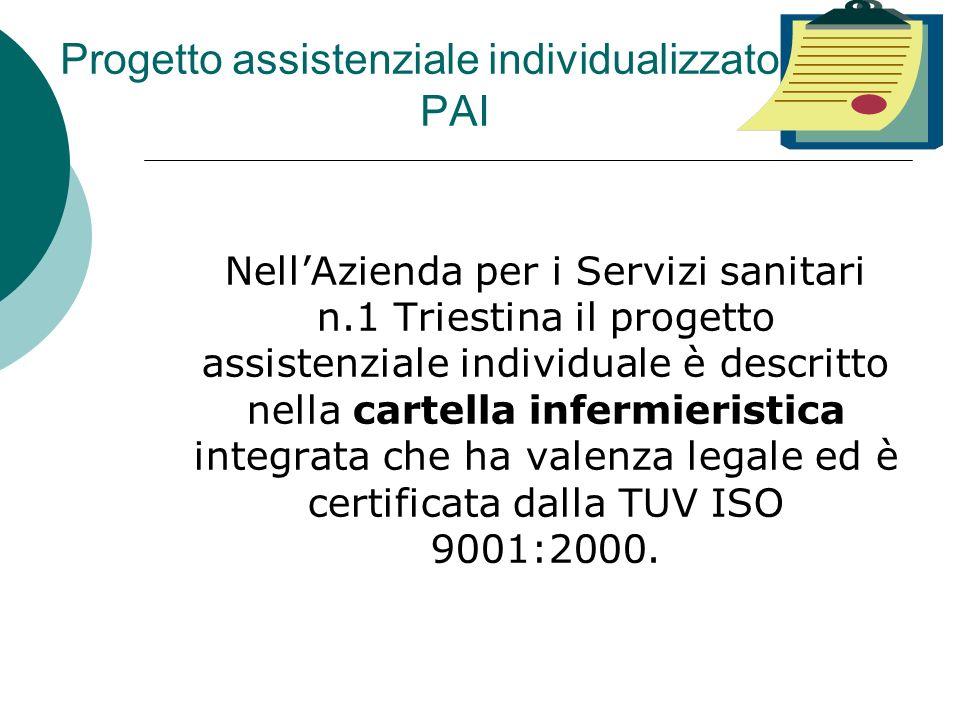 Progetto assistenziale individualizzato PAI NellAzienda per i Servizi sanitari n.1 Triestina il progetto assistenziale individuale è descritto nella c